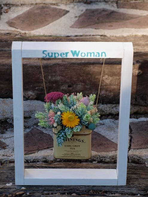 columpio de flores super woman