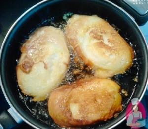 pan de torrijas friendose