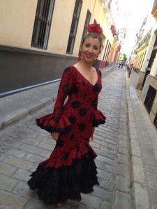 noelia jimenez con vestido de inma prieto