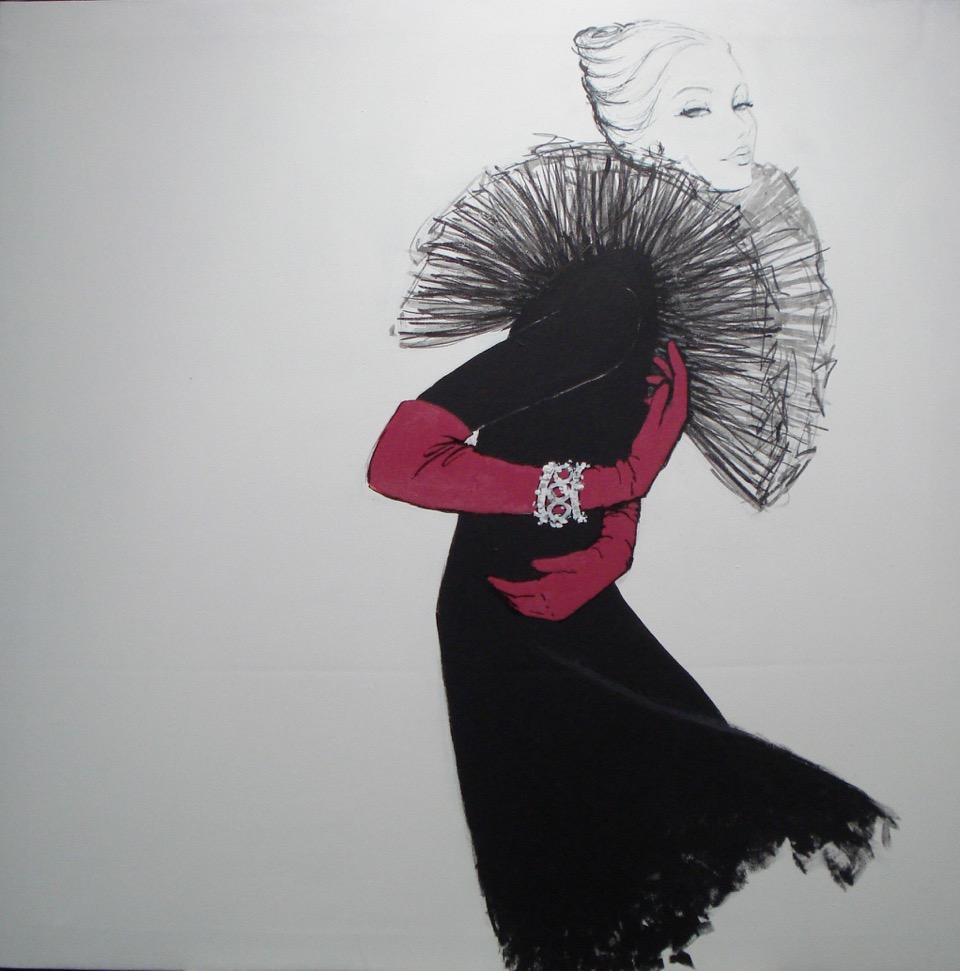exposicion jose ortin la sierra con estilo ilustracion moda
