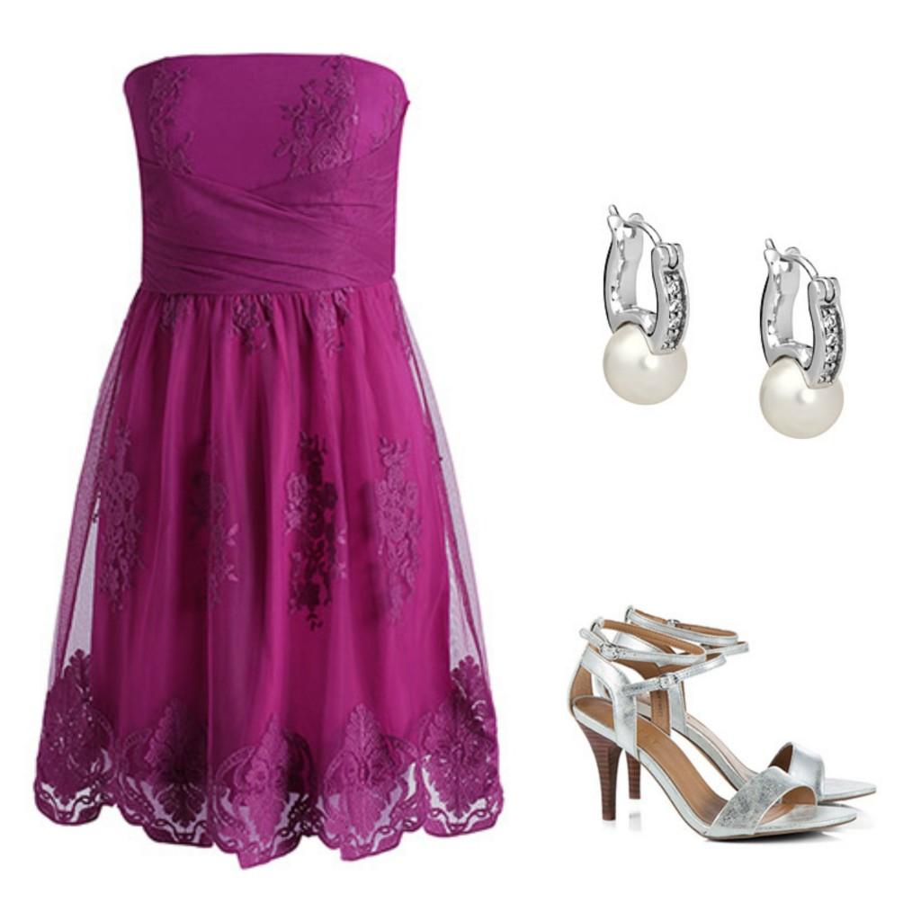 look boda 3 vestido de encaje palabra de honor de esprit vía la sierra con estilo