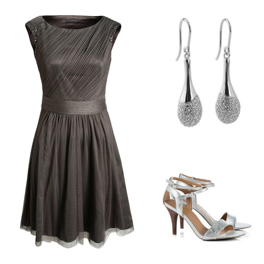 look boda 5 vestido de gasa gris de esprit via la sierra con estilo